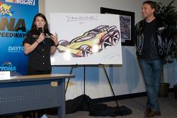 JR Motorsports press conference: Danica Patrick presents the 'Danicar'