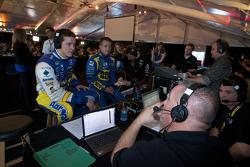 Trevor Bayne and A.J. Allmendinger, Richard Petty Motorsports Ford on live radio