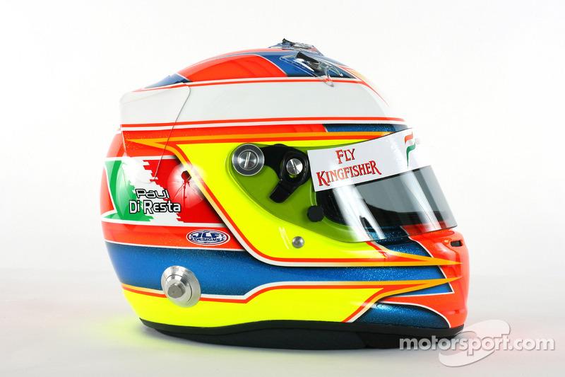 The helmet of Paul Di Resta Force India F1 Third Driver