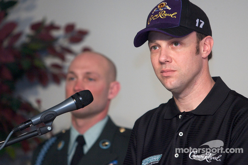 Crown Royal persconferentie: Matt Kenseth, Roush Fenway Racing Ford