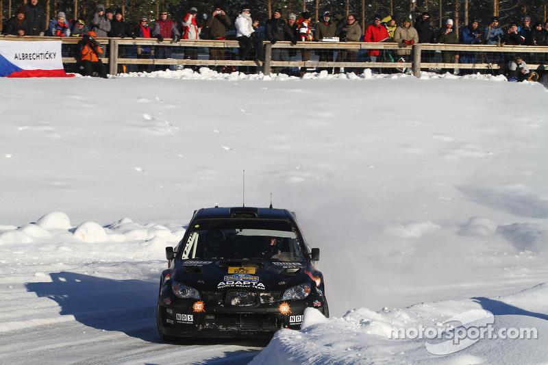 Mads Ostberg en Jonas Andersson, Subaru Impreza WRC 08
