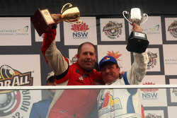 Podium: Paul Morris and Garry Holt holds the trophies aloft