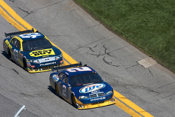 Kurt Busch, Penske Racing Dodge and A.J. Allmendinger, Richard Petty Motorsports Ford