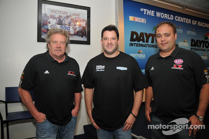 Steve Kinser, Tony Stewart en Donnie Schatz