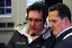 Andrew Shovlin, Mercedes GP Petronas, ingeniero de carrera senior de Michael Schumacher, Michael Sch