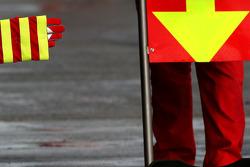 A stripped Ferrari glove