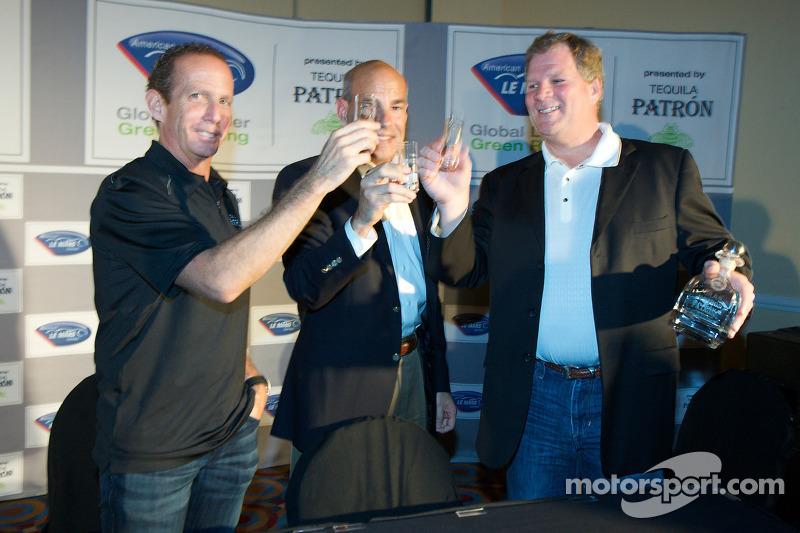 Tequila Patron, sponsor van de American Le Mans Series: Ed Brown, Scott Atherton en Matt Carroll