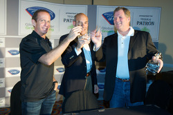 Tequila Patron announced as the presenting sponsor of the American Le Mans Series: Ed Brown, Scott Atherton and Matt Carroll