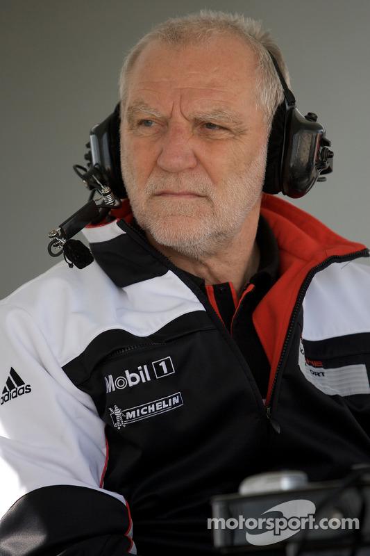 Porsche racing ingenieur Roland Kussmaul