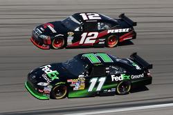 Denny Hamlin, Joe Gibbs Racing Toyota and Brad Keselowski, Penske Racing Dodge