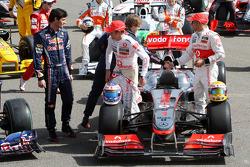 Mark Webber, Red Bull Racing, Jenson Button, McLaren Mercedes, Sebastian Vettel, Red Bull Racing, Lewis Hamilton, McLaren Mercedes