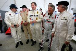 John Surtees, 1964 F1 World Champion, Jody Scheckter, 1979 F1 World Champion, Mario Andretti, 1978 F1 World Champion, Sir Jackie Stewart, 1969, 1971, 1973 F1 World Champion