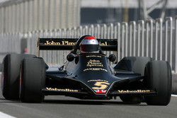 Mario Andretti, 1978 F1 World Champion drives the 1978 Lotus 79