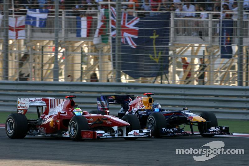 Felipe Massa, Scuderia Ferrari et Sebastian Vettel, Red Bull Racing