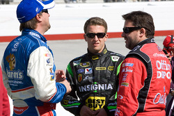 David Reutimann, Michael Waltrip Racing Toyota, A.J. Allmendinger, Richard Petty Motorsports Ford and Tony Stewart, Stewart-Haas Racing Chevrolet