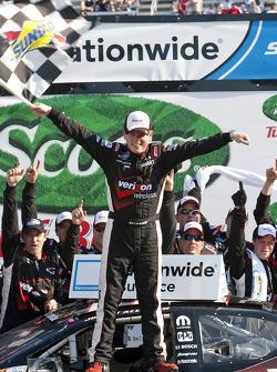 Victory lane: race winner Justin Allgaier celebrates