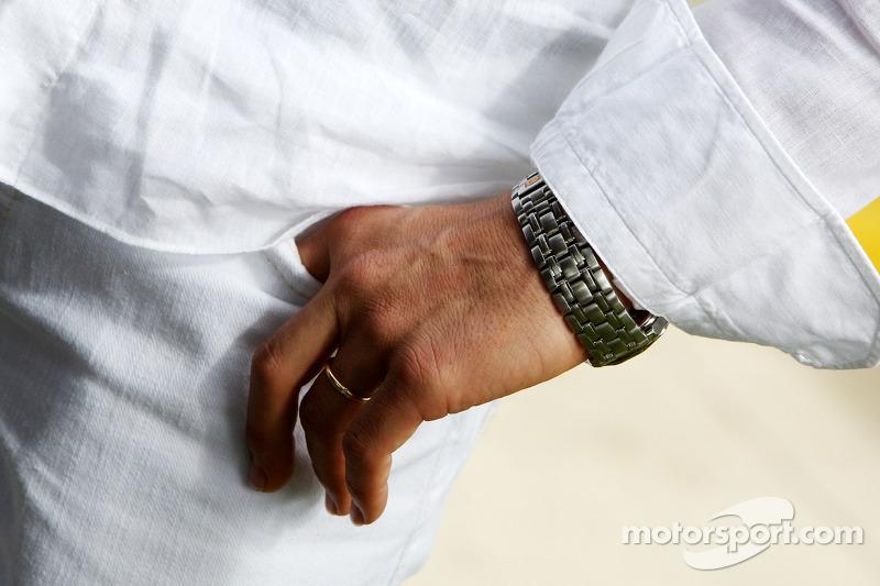 Michael Schumacher, Mercedes GP, watch detail
