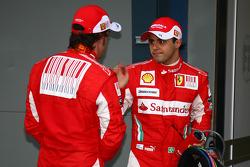 Fernando Alonso, Scuderia Ferrari and Felipe Massa, Scuderia Ferrari