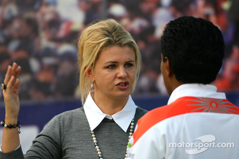 Corina Schumacher, Corinna, vrouw van Michael Schumacher en Balbir Singh