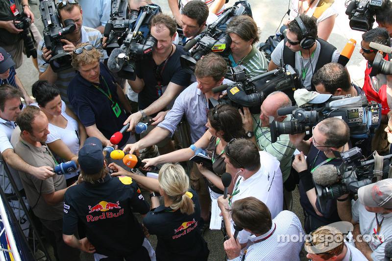Sebastian Vettel, Red Bull Racing persconferentie