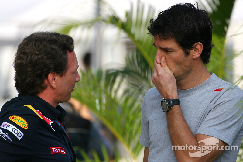 Christian Horner, Red Bull Racing, Sporting Director en Mark Webber, Red Bull Racing