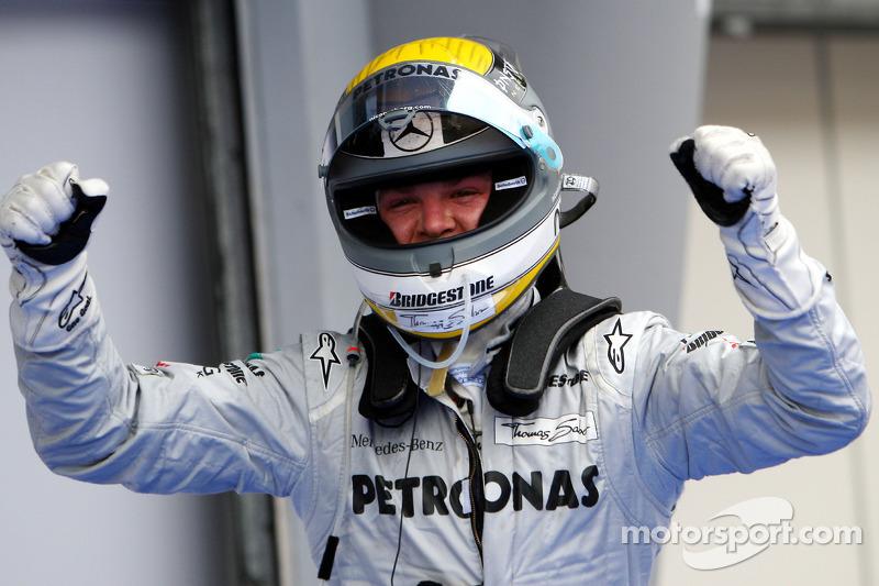 Derde plaats Nico Rosberg, Mercedes GP