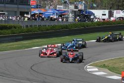 Marco Andretti, Andretti Autosport passes Scott Dixon, Target Chip Ganassi Racing