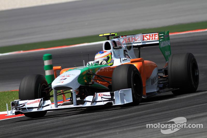 2010: Force India VJM03 (два пятых места, 7-е место в КК)