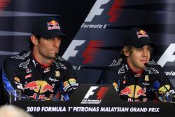 Pole winner Mark Webber, Red Bull Racing, third place Sebastian Vettel, Red Bull Racing
