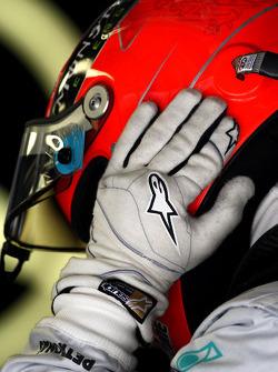 The glove of Michael Schumacher, Mercedes GP