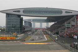 Sebastian Vettel, Red Bull Racing on the parade lap