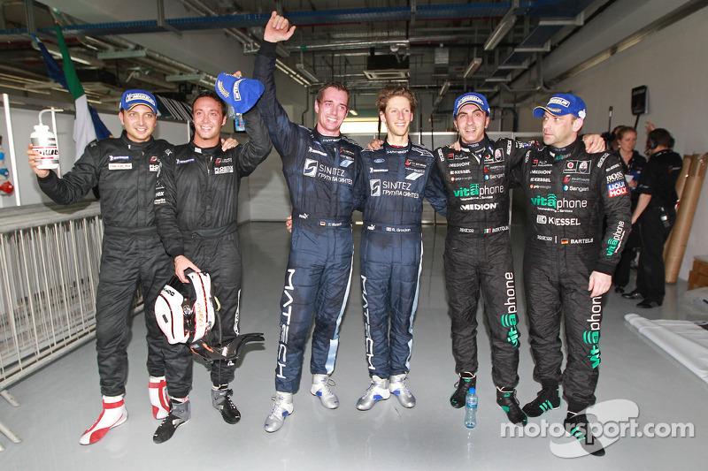 Kwalificatierace, winnaars Marc Hennerici en Andreas Zuber, met 2de Thomas Mutsch en Romain Grosjean, en 3de Michael Bartels, Andrea Bertolini