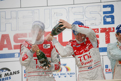 LMP1 podium: class and overall winners Rinaldo Capello and Allan McNish