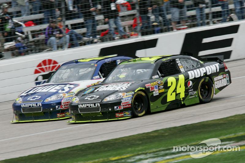 Jeff Gordon, Hendrick Motorsports Chevrolet et Jimmie Johnson, Hendrick Motorsports Chevrolet