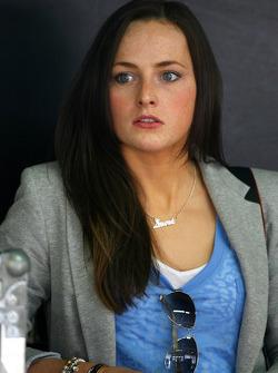 Laura, girlfriend of Paul di Resta, Team HWA AMG Mercedes