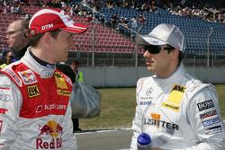 Mattias Ekström, Audi Sport Team Abt Audi A4 DTM and Gary Paffett, Team HWA AMG Mercedes C-Klasse