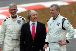 Damon Hill, BRDC President, with Jackie Stewart and HRH Prince Andrew, The Duke of York