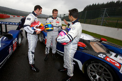 Simon Pagenaud, Sébastien Bourdais and Pedro Lamy share a laugh