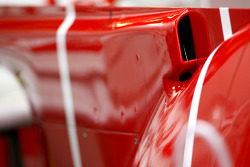 Scuderia Ferrari engine cover detail
