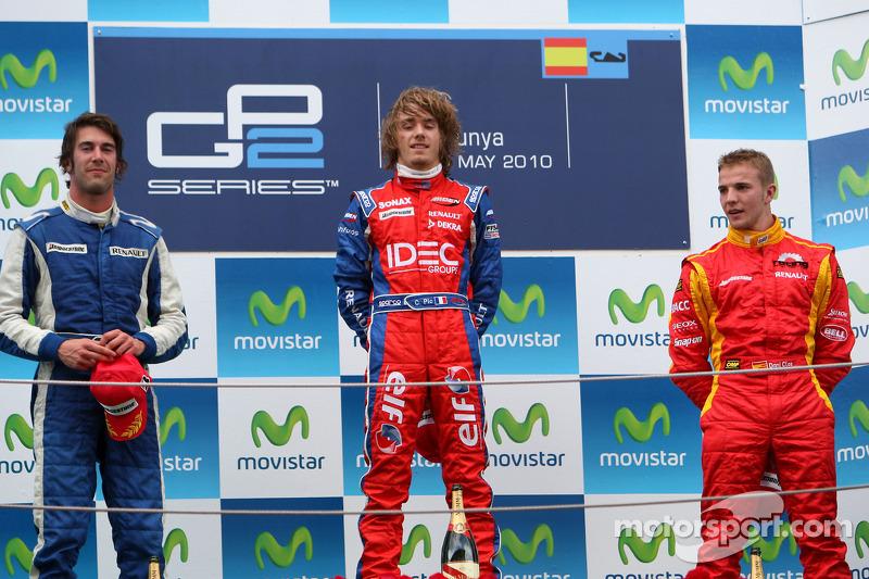 Podium: winner Charles Pic, 2e Giacomo Ricci, 3e Dani Clos