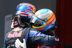 Mark Webber, Red Bull Racing en Fernando Alonso, Scuderia Ferrari