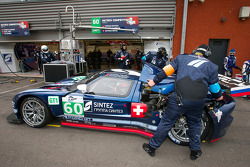 Pit stop for #60 Matech Competition Ford GT: Thomas Mutsch, Jonathan Hirschi, Mathias Beche