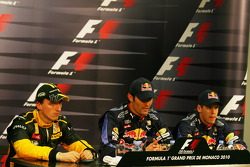 Post-qualifying press conference: Pole position for Mark Webber, Red Bull Racing, second Robert Kubica, Renault F1 Team, third Sebastian Vettel, Red Bull Racing