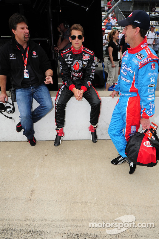 Michael Andretti, Marco Andretti en John Andretti
