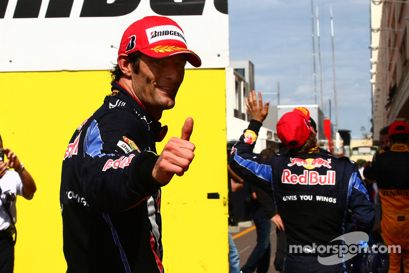 First place Mark Webber, Red Bull Racing and Sebastian Vettel, Red Bull Racing