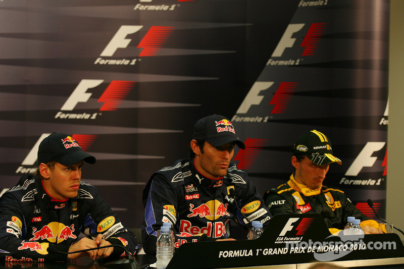 Sebastian Vettel, Red Bull Racing with Mark Webber, Red Bull Racing and Robert Kubica, Renault F1 Team