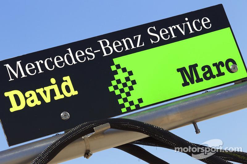 Pitbord David Coulthard, Mücke Motorsport en Maro Engel, Mücke Motorsport