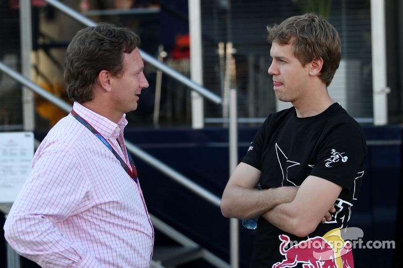 Christian Horner, Red Bull Racing, Sporting Director, Sebastian Vettel, Red Bull Racing