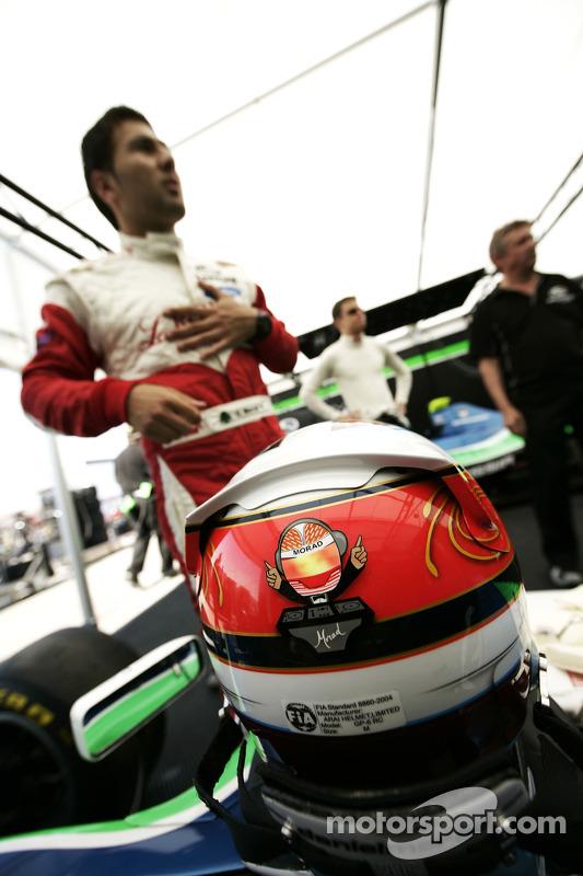 The helmet of Daniel Morad