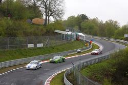 #16 Moore International Motorsport Porsche GT3 Cup 997: Willie Moore, Bill Cameron, Calum Lockie, #6 Aston Martin Vantage V12: Chris Porritt, Richard Meaden, Oliver Mathai, Peter Cate
